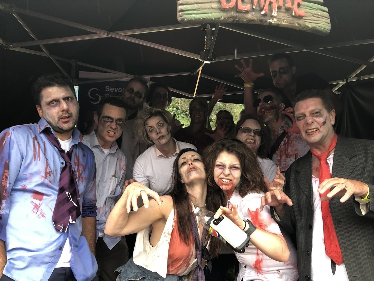 Business Zombies row at Severn Hospice Dragon Boat Race