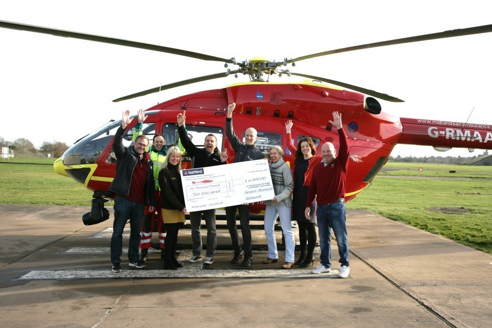 Severn Business Network donate £6K to Midlands Air Ambulance